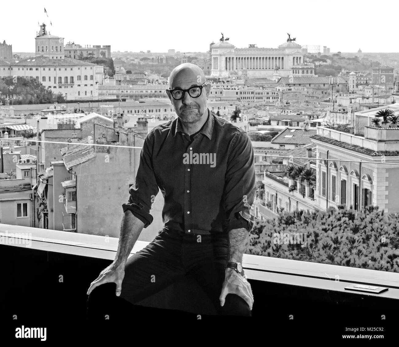 Italy, Rome, 05 February, 2018 : Actor and director Stanley Tucci attends the photocall of the movie 'Final - Stock Image