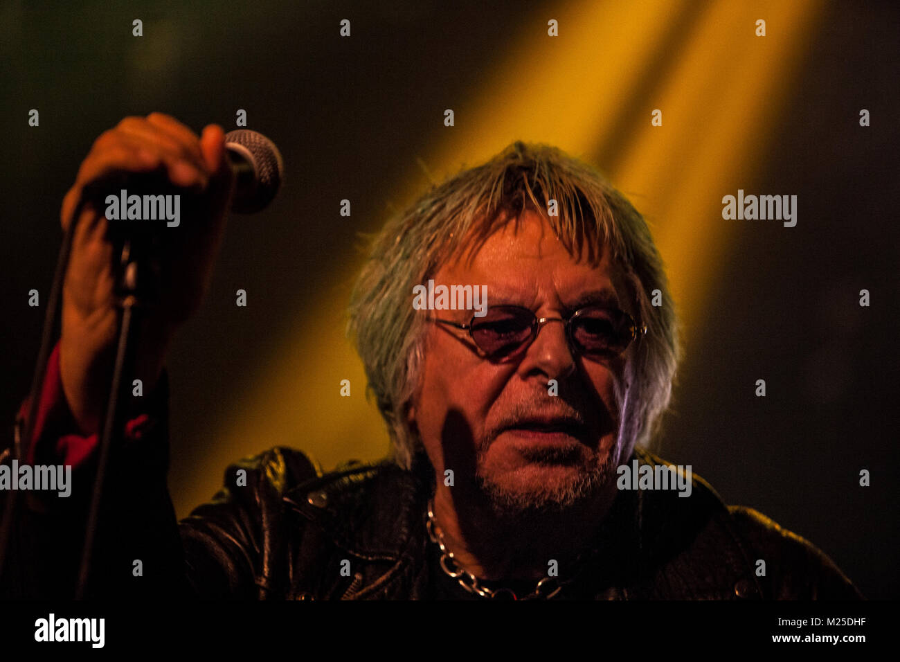 Zagreb, Croatia. 4th February, 2018. Punk rock band UK SUBS  on 40 Anniversary tour concert in Boogaloo, Zagreb - Stock Image