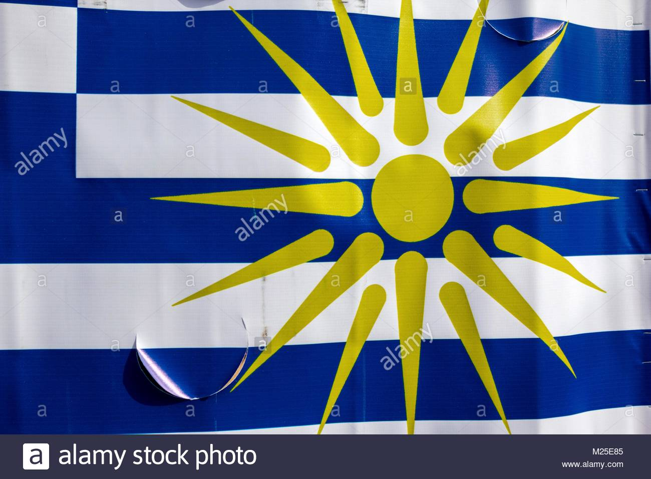 Athens Greece 4th February 2018 A Greek National Flag With The