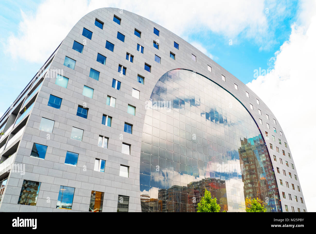 Netherlands, Rotterdam, The modern architectures of the Markthal - Stock Image