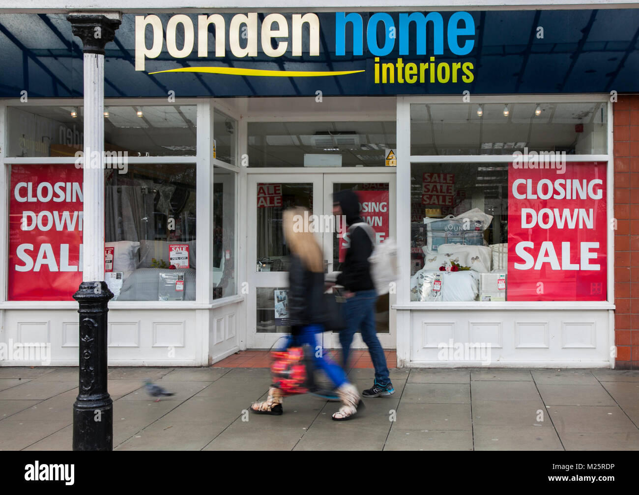 Closing down sale, shop front at Ponden Store, Lord street. Southport, UK - Stock Image