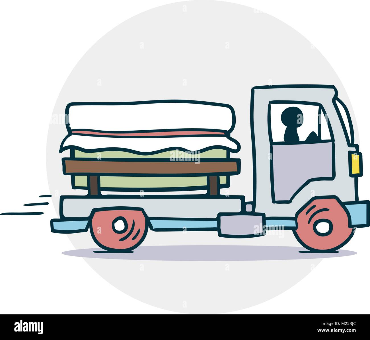 Truck delivers cargo icon - Stock Vector