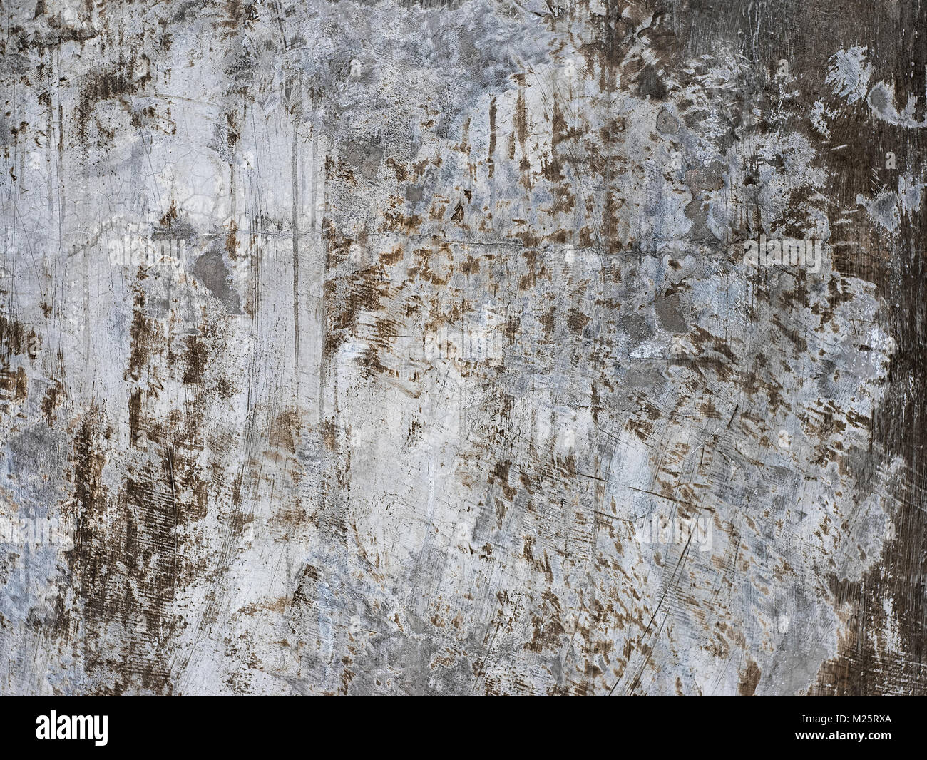 Polished concrete wall ,Unique and realistic non repeating concrete wall loft wall design paint - Stock Image