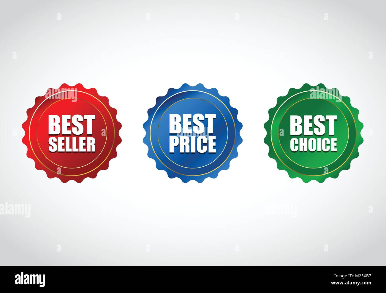 Collection of special colored sale tag design, price tag with ribbon