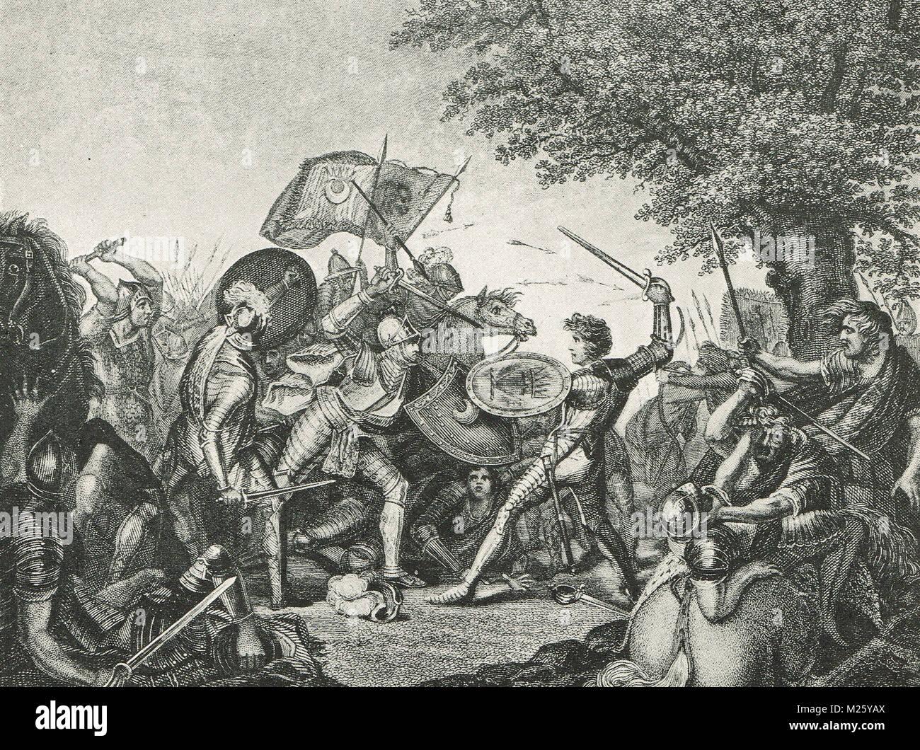 The Battle of Homildon Hill, 14 September 1402 - Stock Image