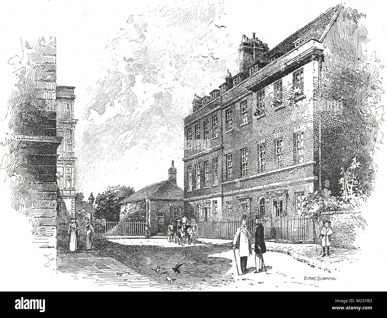 10 Downing St, London, England, Mid 19th Century.  Official residence of the First Lord of the Treasury, office - Stock Image