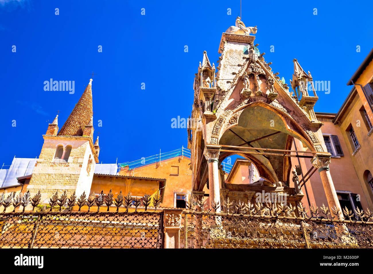 Verona landmarks and towers street view, Veneto region of Italy - Stock Image