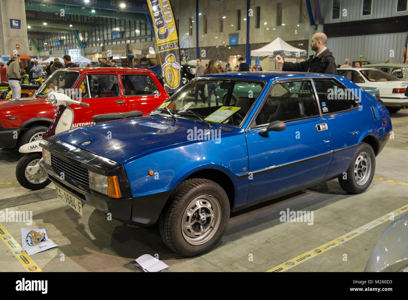 1977 Seat 1200/1430 Sport 'Bocanegra'. Retro Málaga 2018. Spain - Stock Image
