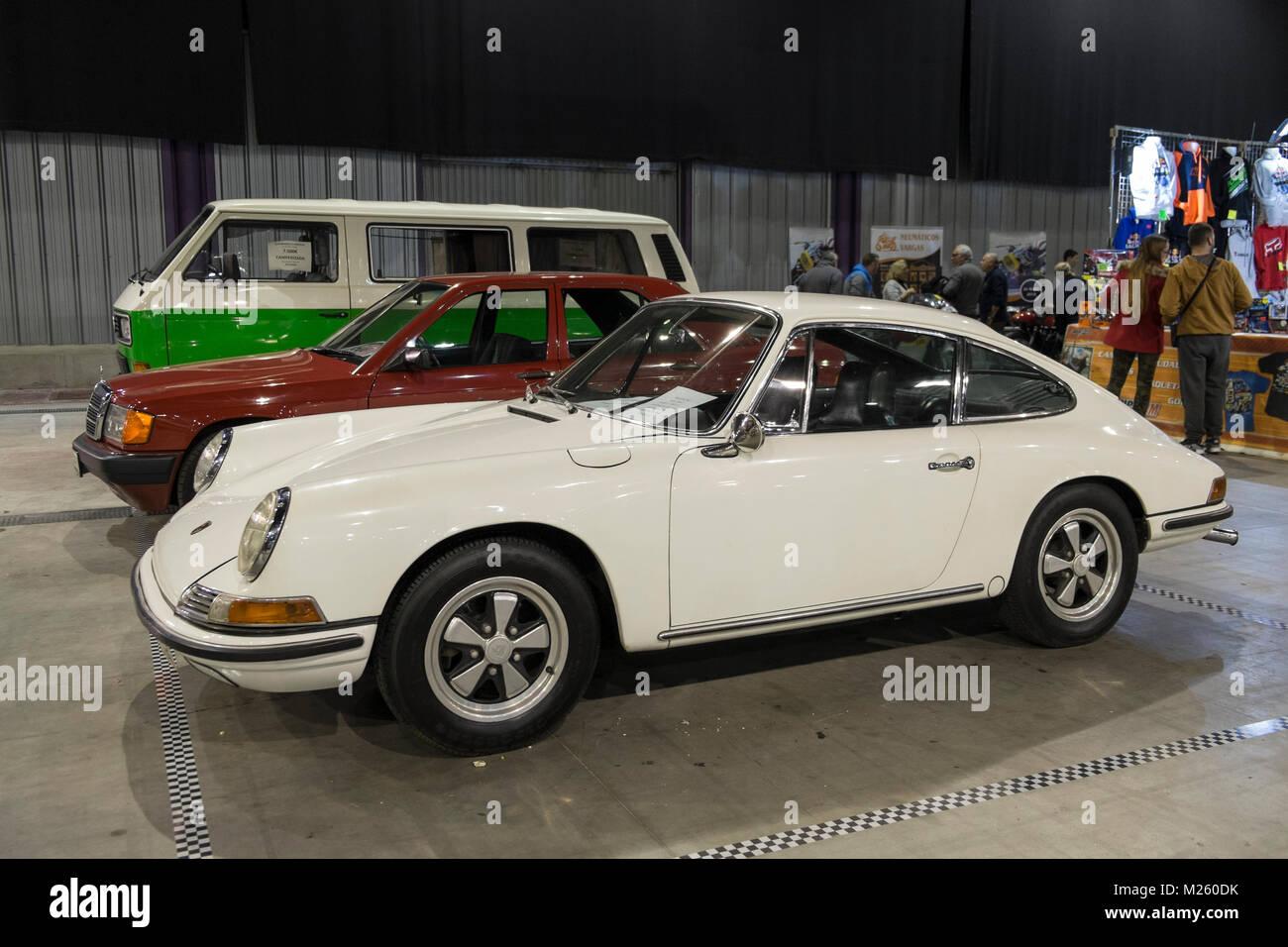 1966 Porsche 912 (1600 cc, 90HP). Retro Málaga 2018. Spain. - Stock Image