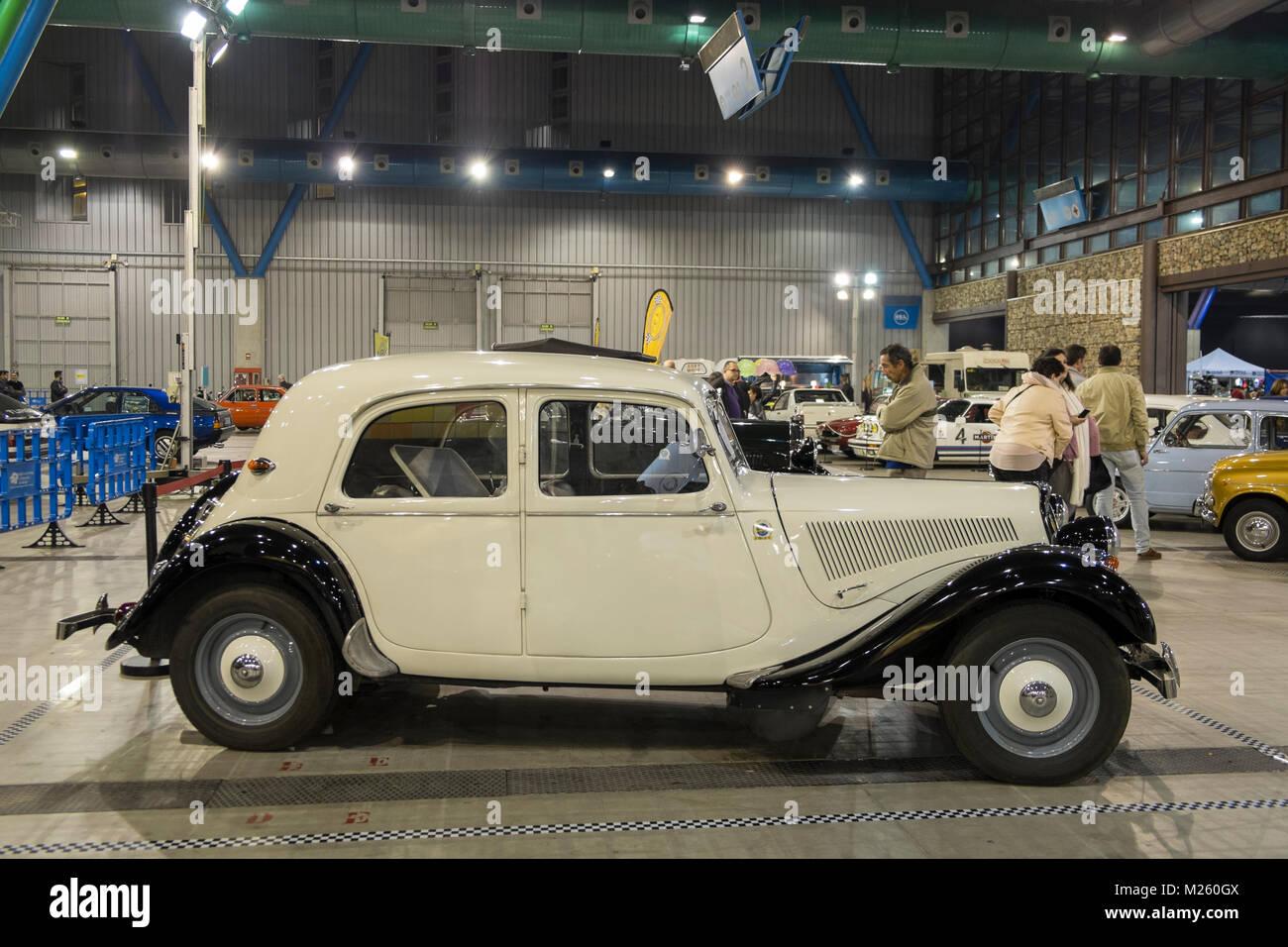 Citroën Traction Avant. Retro Málaga 2018. - Stock Image