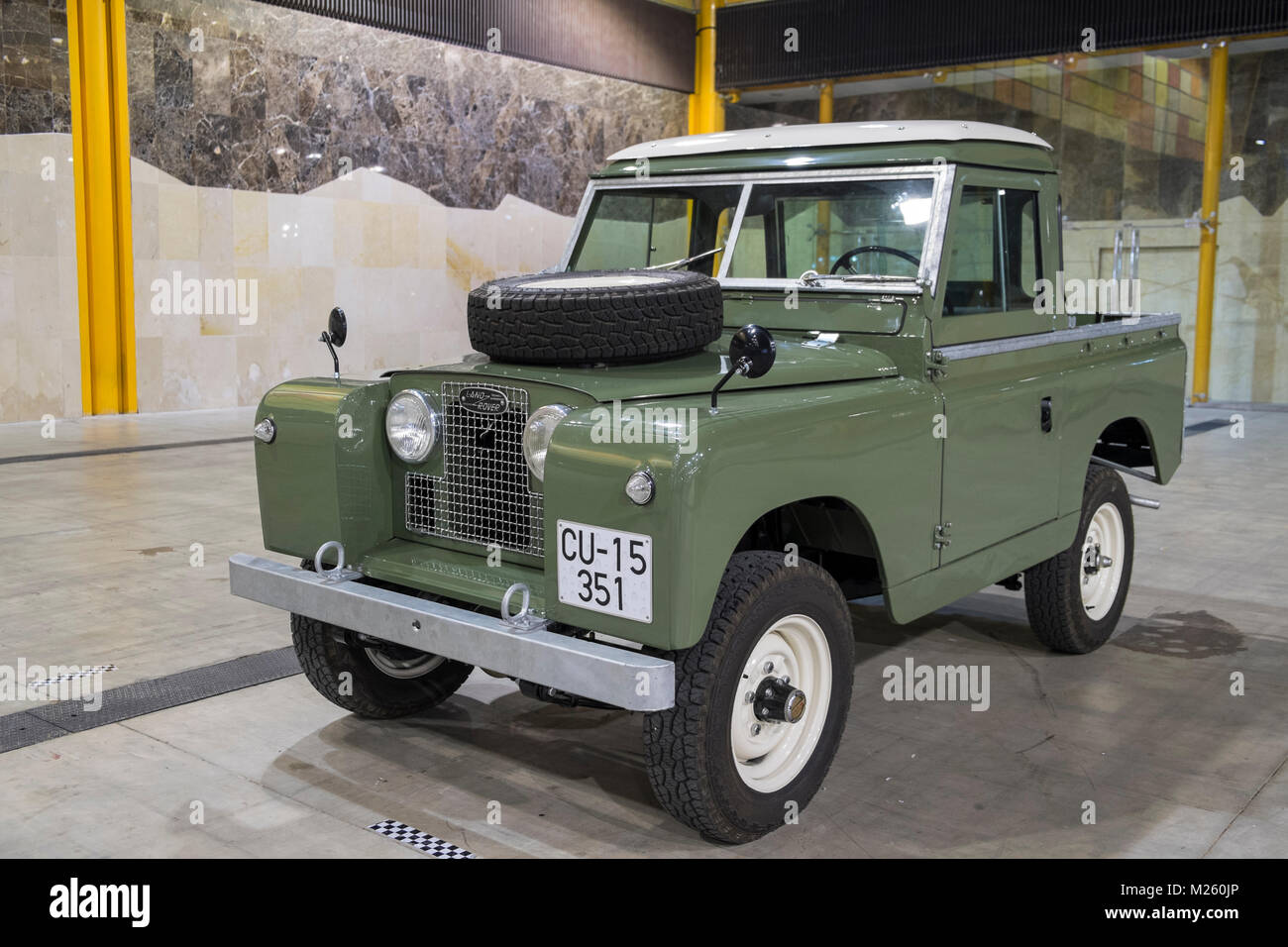 1969 Land Rover. Retro Málaga 2018. Spain. - Stock Image