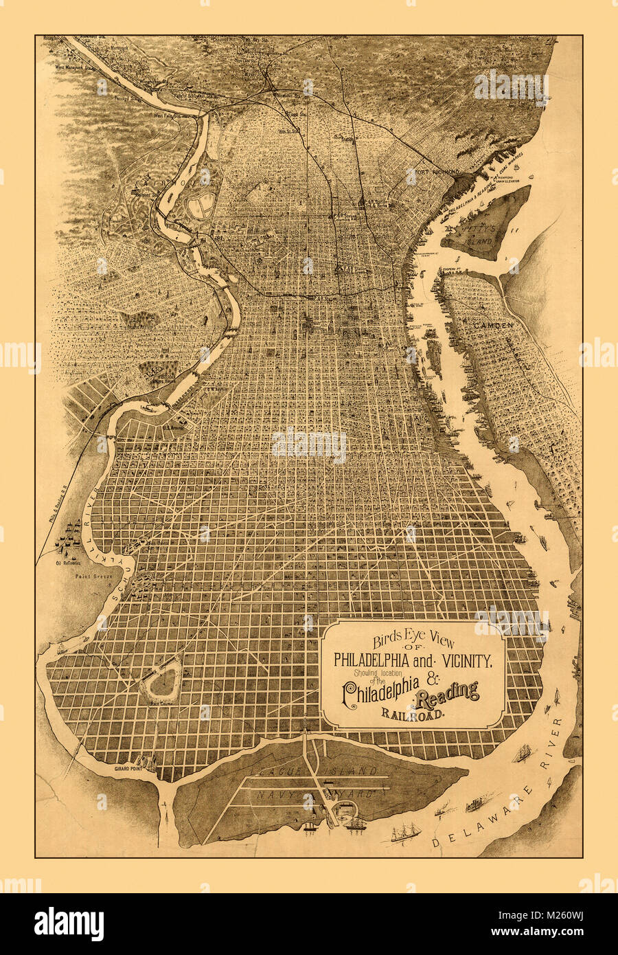 historic map of philadelphia Historical Map Of Philadelphia Circa 1870 Stock Photo Alamy historic map of philadelphia