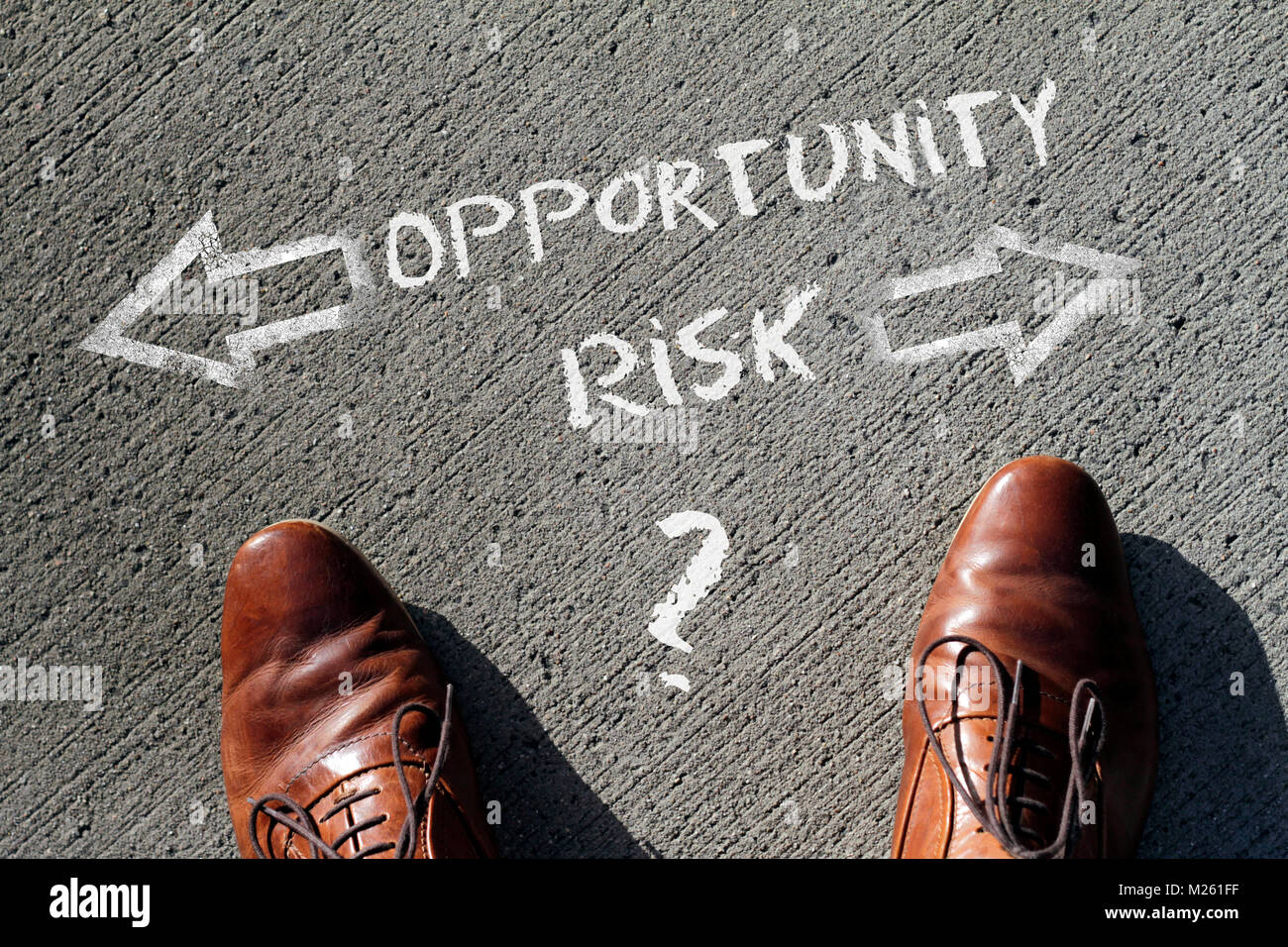 Time to decide: Risk or Opportunity? - Stock Image