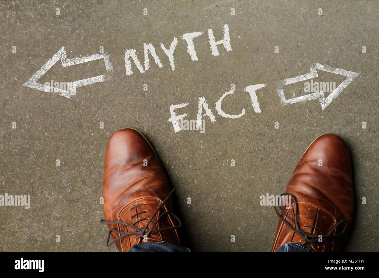 Time to decide: Myth or Fact? - Stock Image