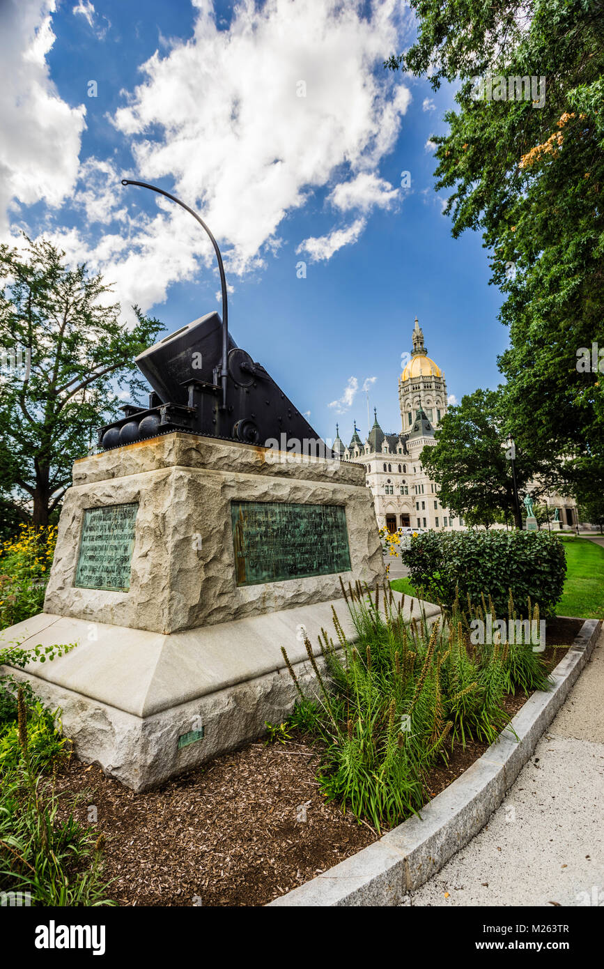 Connecticut State Capitol _ Hartford, Connecticut, USA - Stock Image