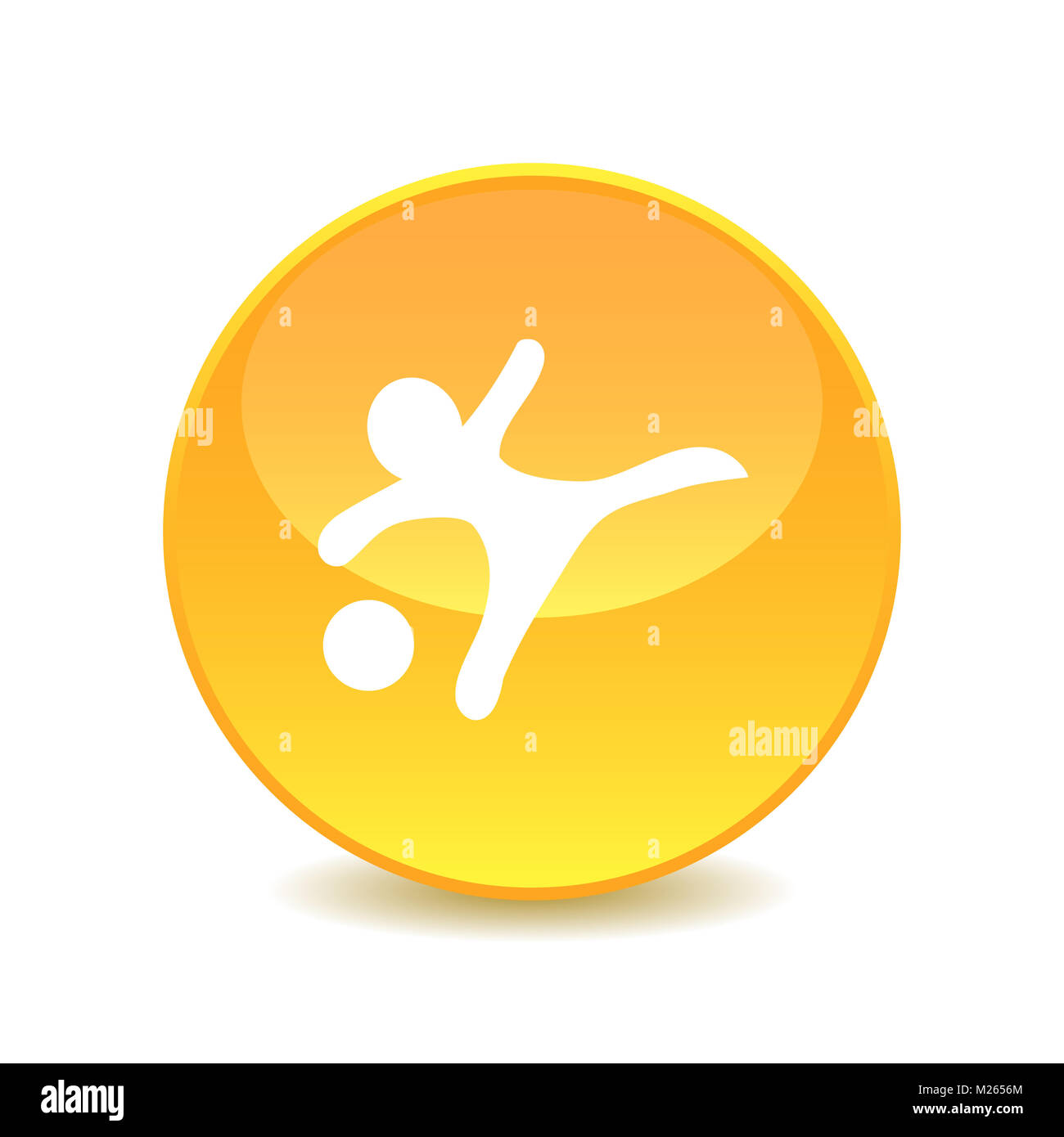soccer player , Soccer player icon illustration isolated vector sign symbol , Vector. - Stock Image