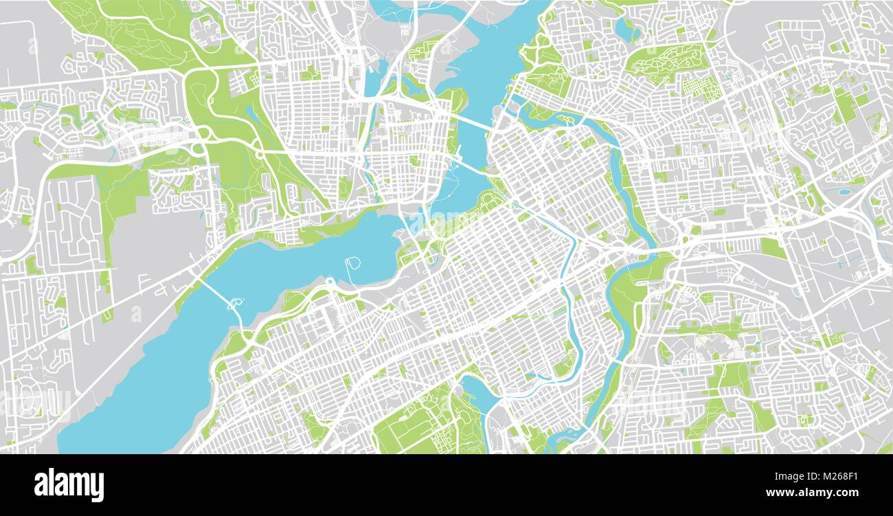 urban vector city map of ottawa canada