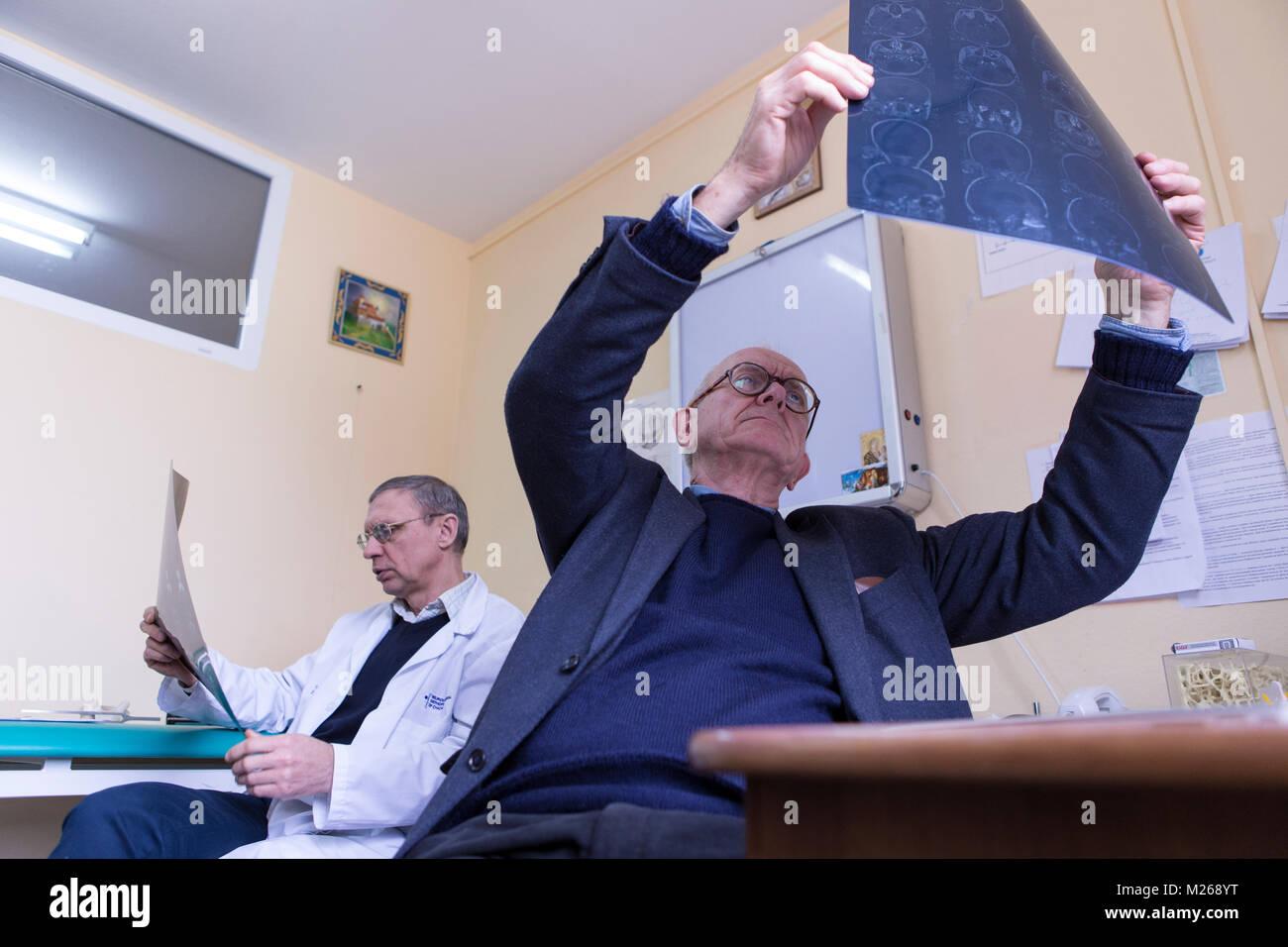 Lviv, Ukraine - 5th February 2016. Henry Marsh CBE FRCS is a world leading British neurosurgeon and a pioneer of Stock Photo
