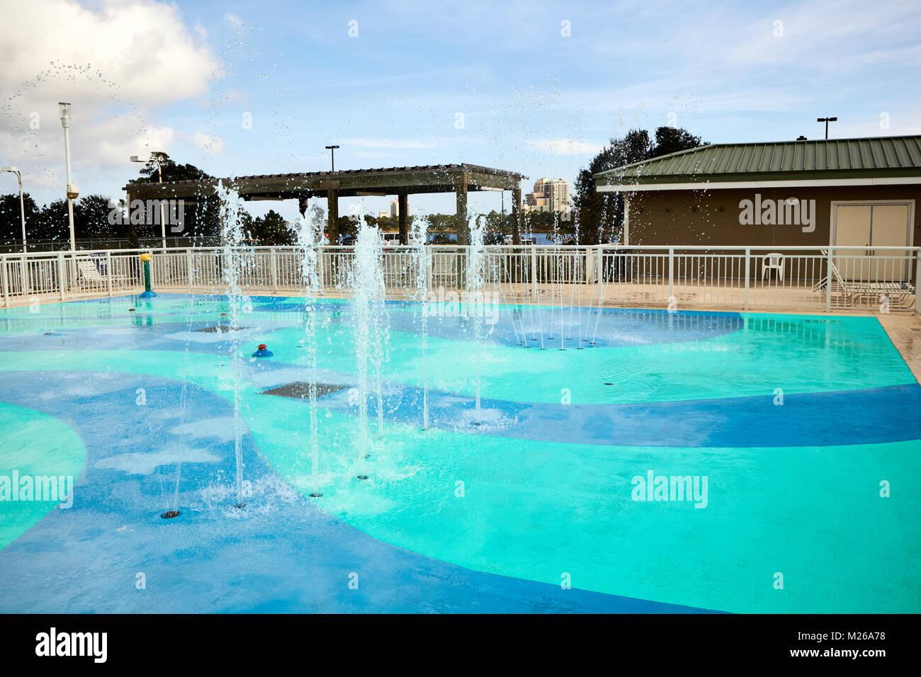 Splash Pad at Gulf State Park, Alabama Stock Photo