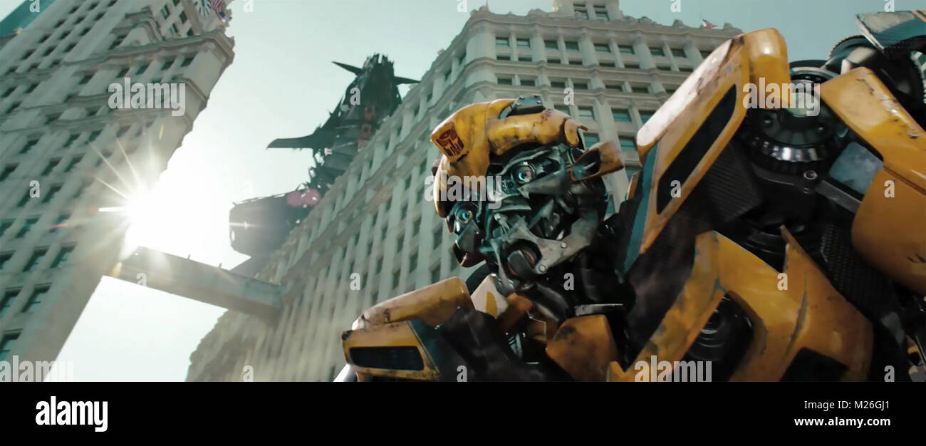 TRANSFORMERS: DARK OF THE MOON 2011 Paramount Pictures film - Stock Image