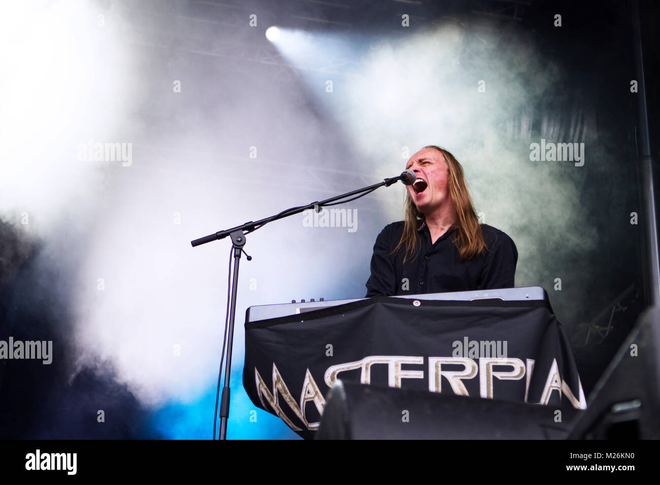 Norway, Kvinesdal – July 8, 2017. The German power metal band Masterplan performs a live concert during the Norwegian - Stock Image