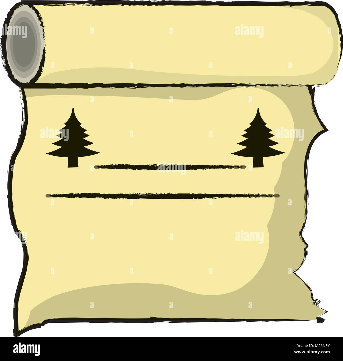 Old paper scroll icon Stock Vector Art & Illustration