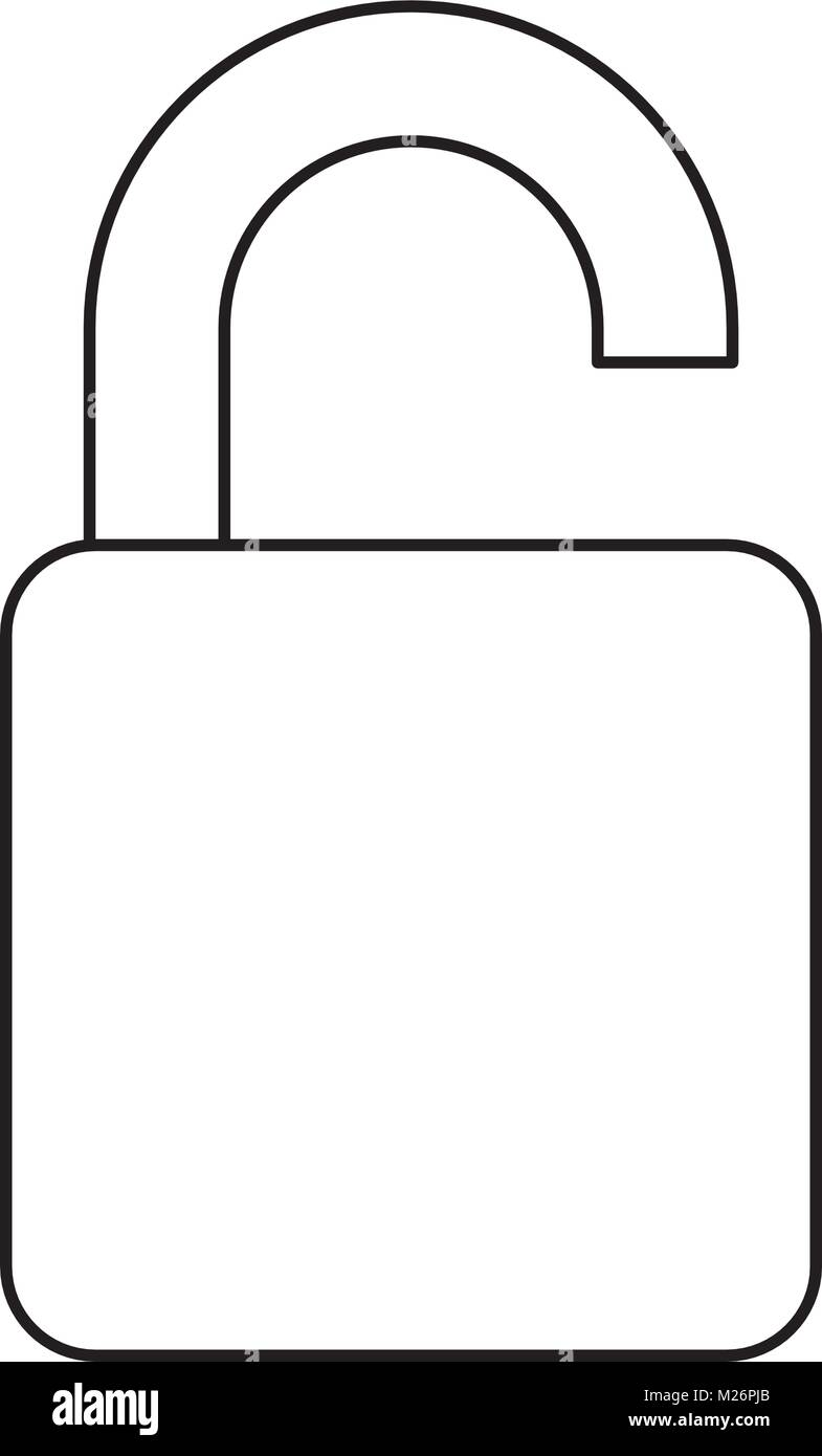 opened padlock icon - Stock Image