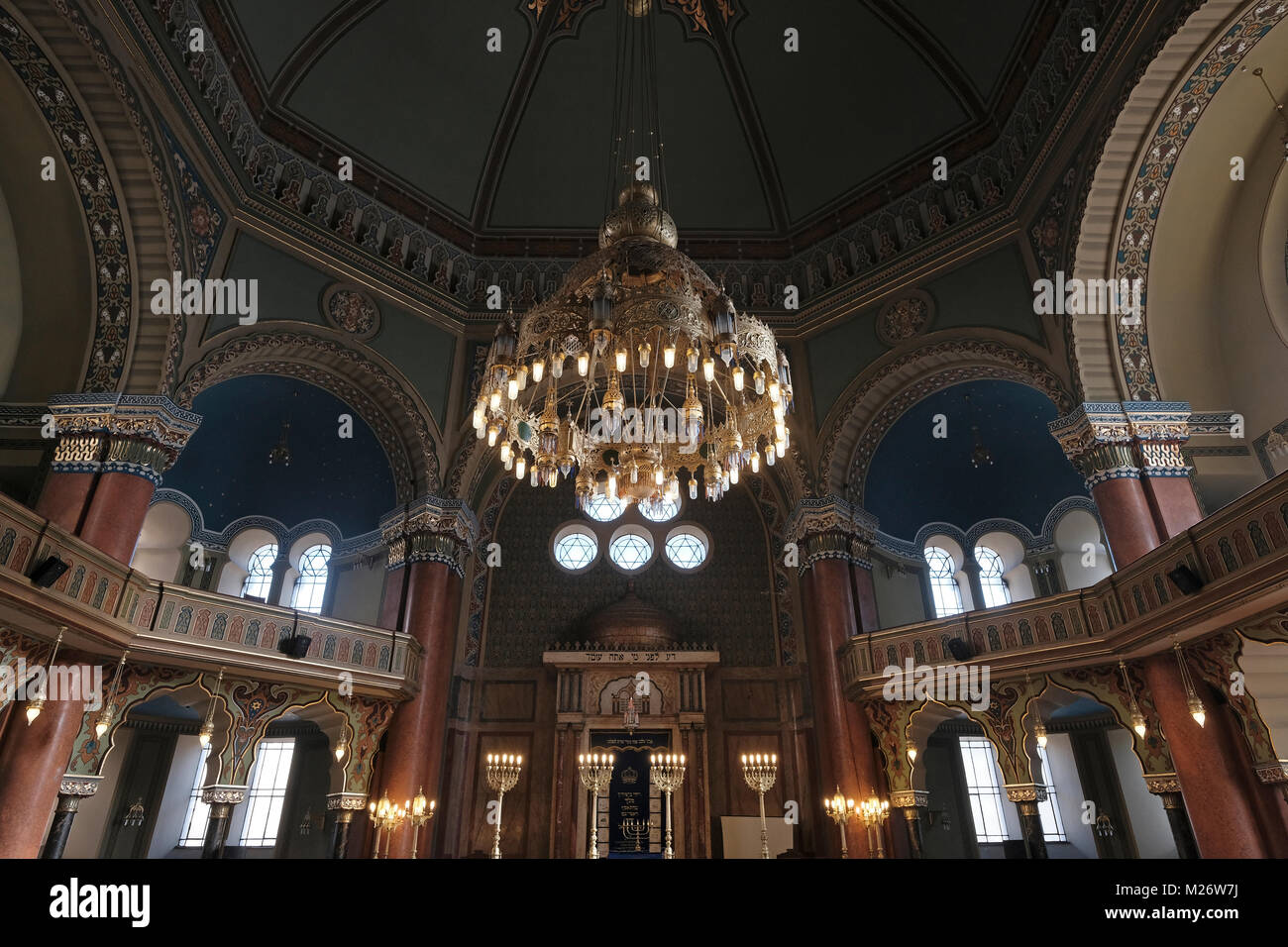 Biggest chandelier stock photos biggest chandelier stock images the biggest chandelier in the balkans inside the sofia synagogue the largest synagogue in southeastern europe aloadofball Gallery
