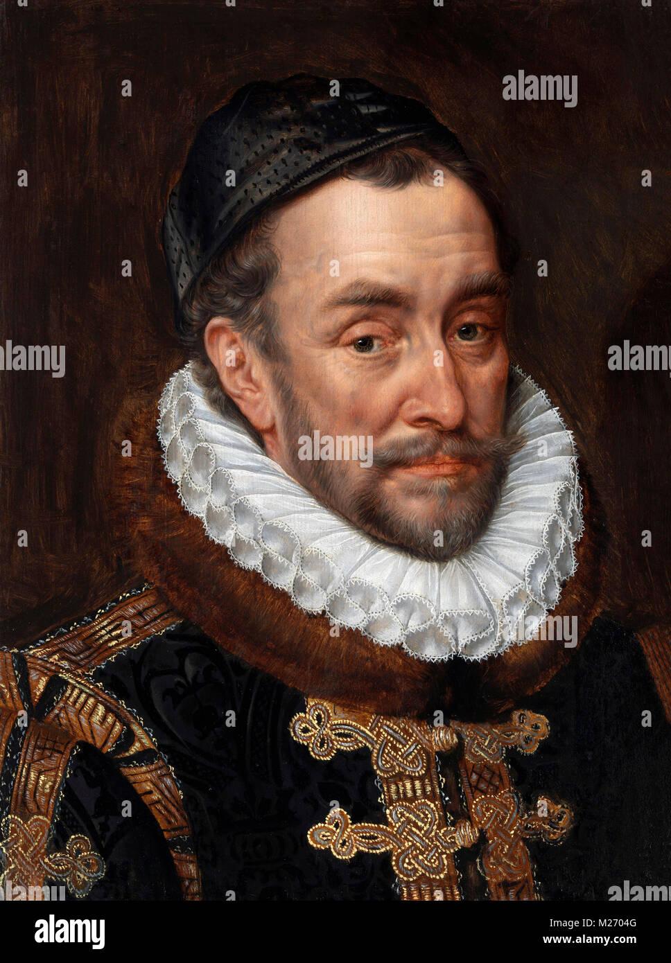 William I, Prince of Orange (1533-1584) by Adriaen Thomasz Kay, oil on panel, c.1579 - Stock Image