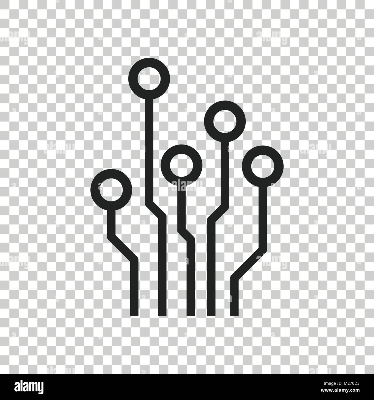 Circuit board icon. Technology scheme symbol flat vector ...