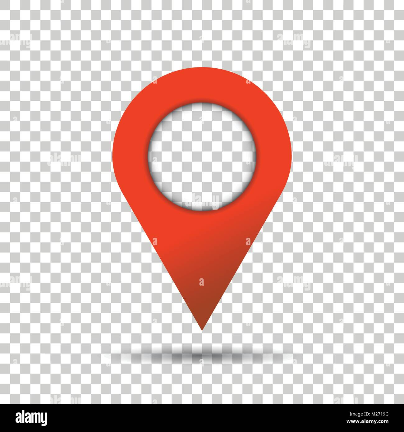 Pin icon vector. Location sign in flat style isolated on isolated background. Navigation map, gps concept. - Stock Vector