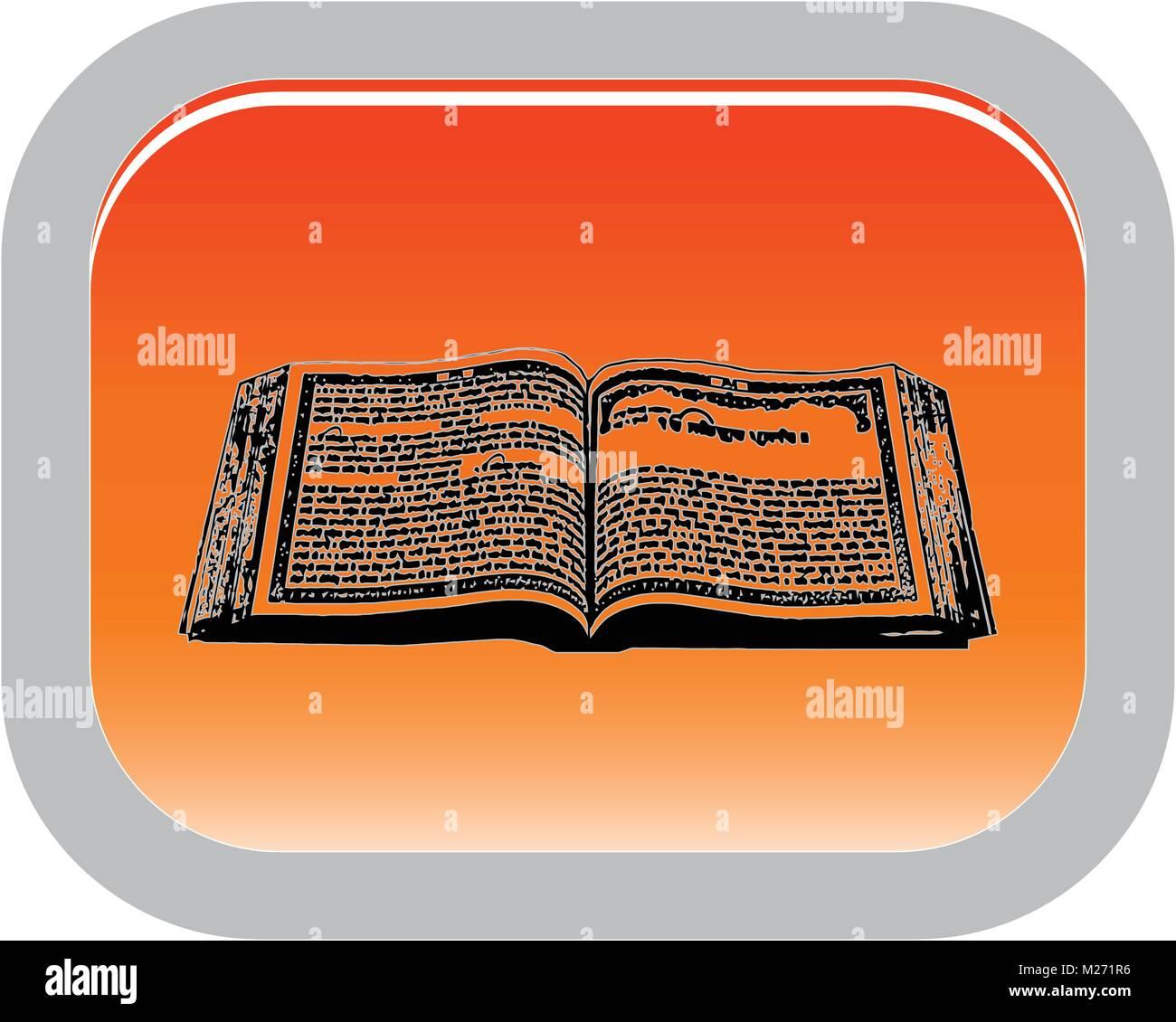 The Symbol Of The Sikhism Holy Book Guru Granth Sahib Button