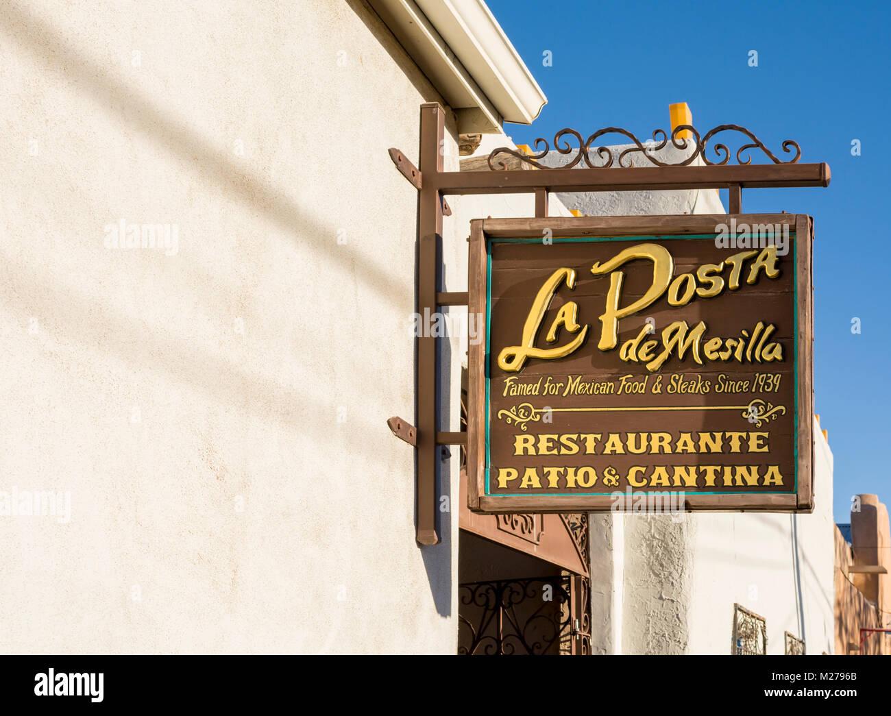 La Posta Mexican restaurant, patio, cantina in Old Mesilla, Las Cruces, New Mexico,USA. - Stock Image