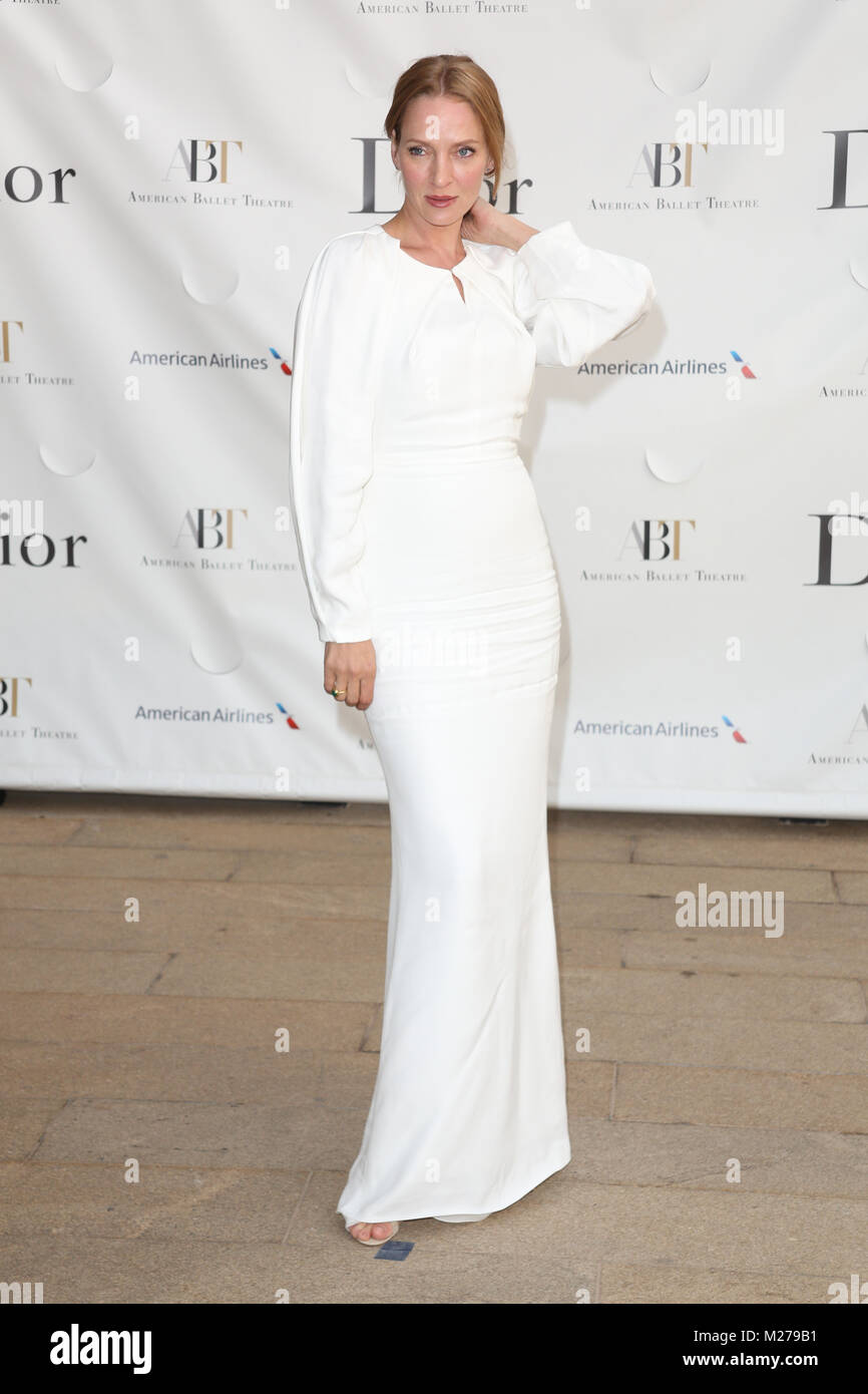 Uma Thurman attends the 2013 American Ballet Theatre Opening Night Spring Gala at Lincoln Center on May 13, 2013 - Stock Image