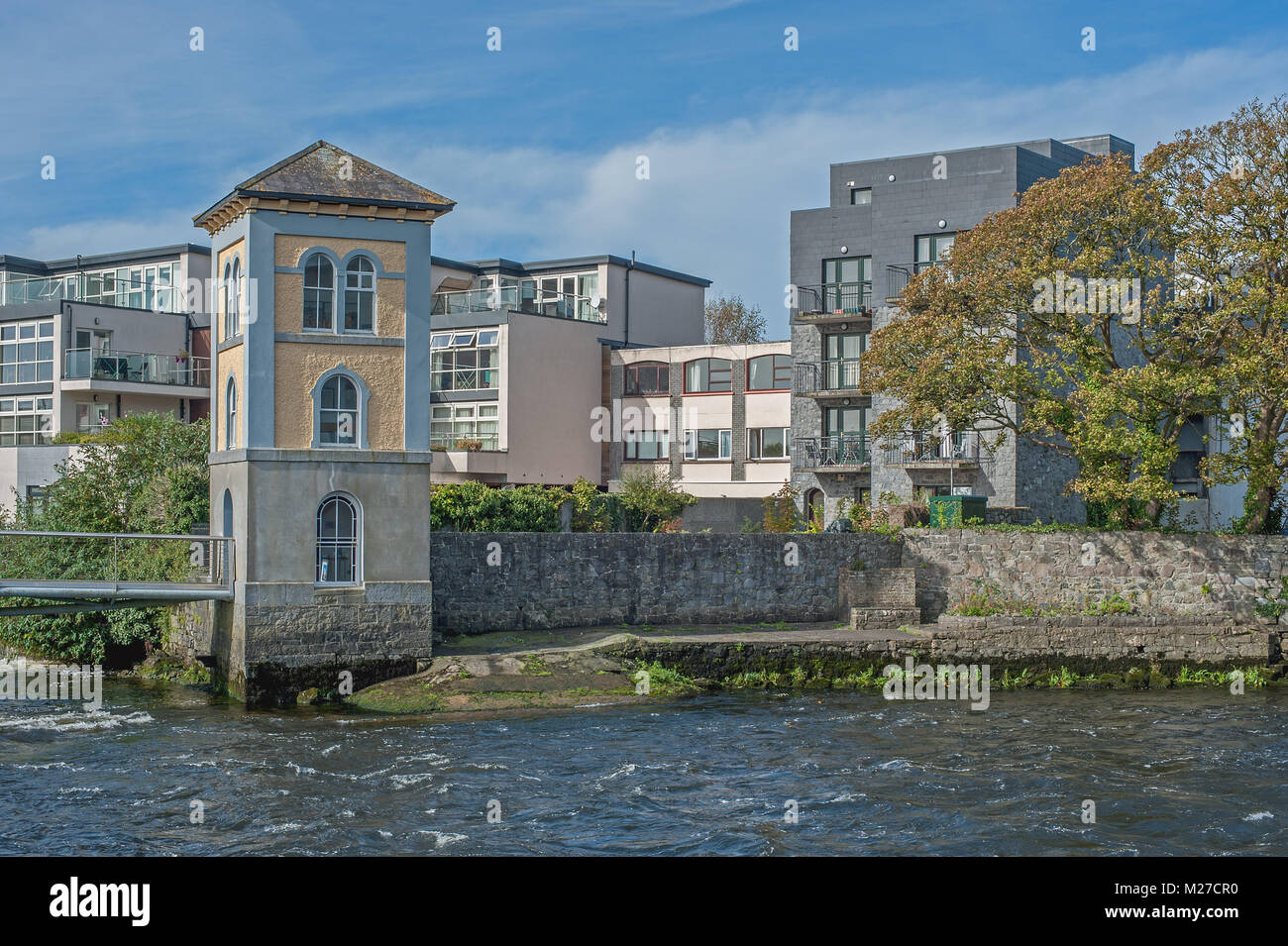 Apartment complex in Galway Ireland - Stock Image
