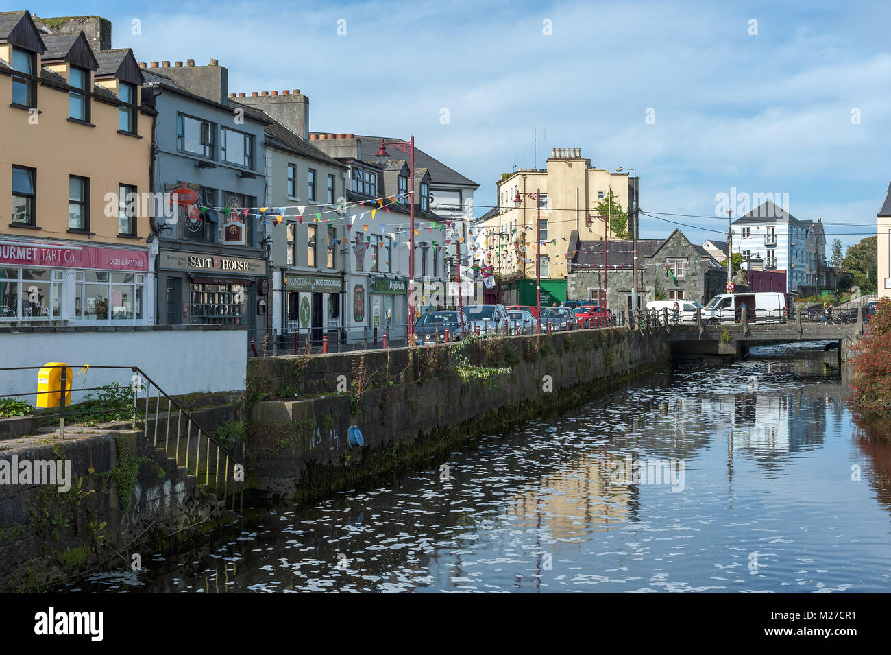 Canal view, Galway, Ireland - Stock Image