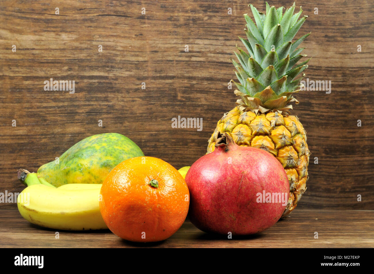still life of exotic fruits - Stock Image