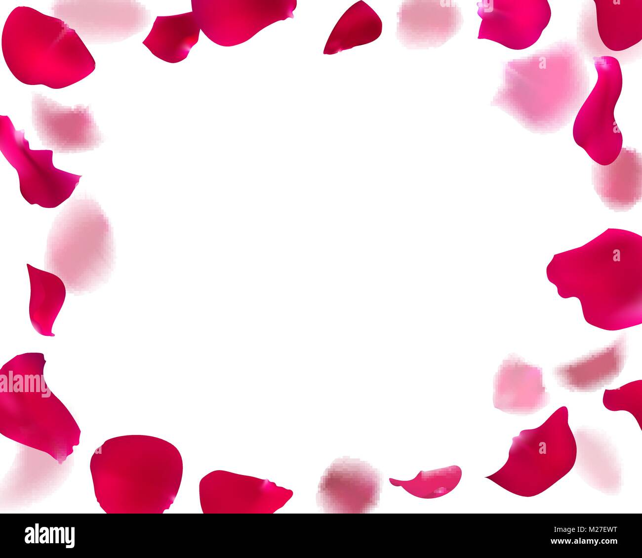 Invitation Template With Rose Petals Stock Vector Art Illustration