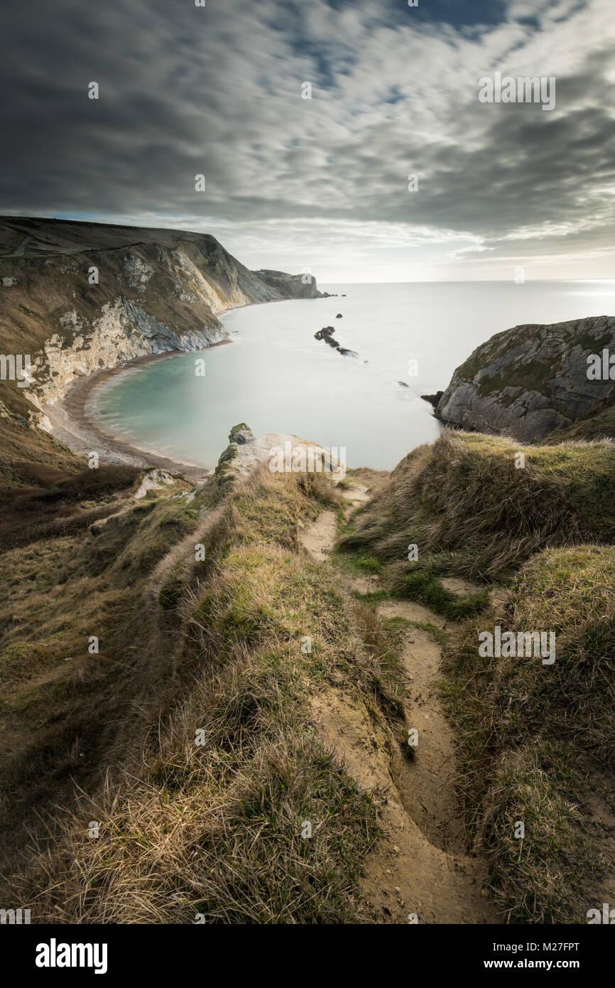 Man O War Bay on the Jurassic Coast in Dorset - Stock Image