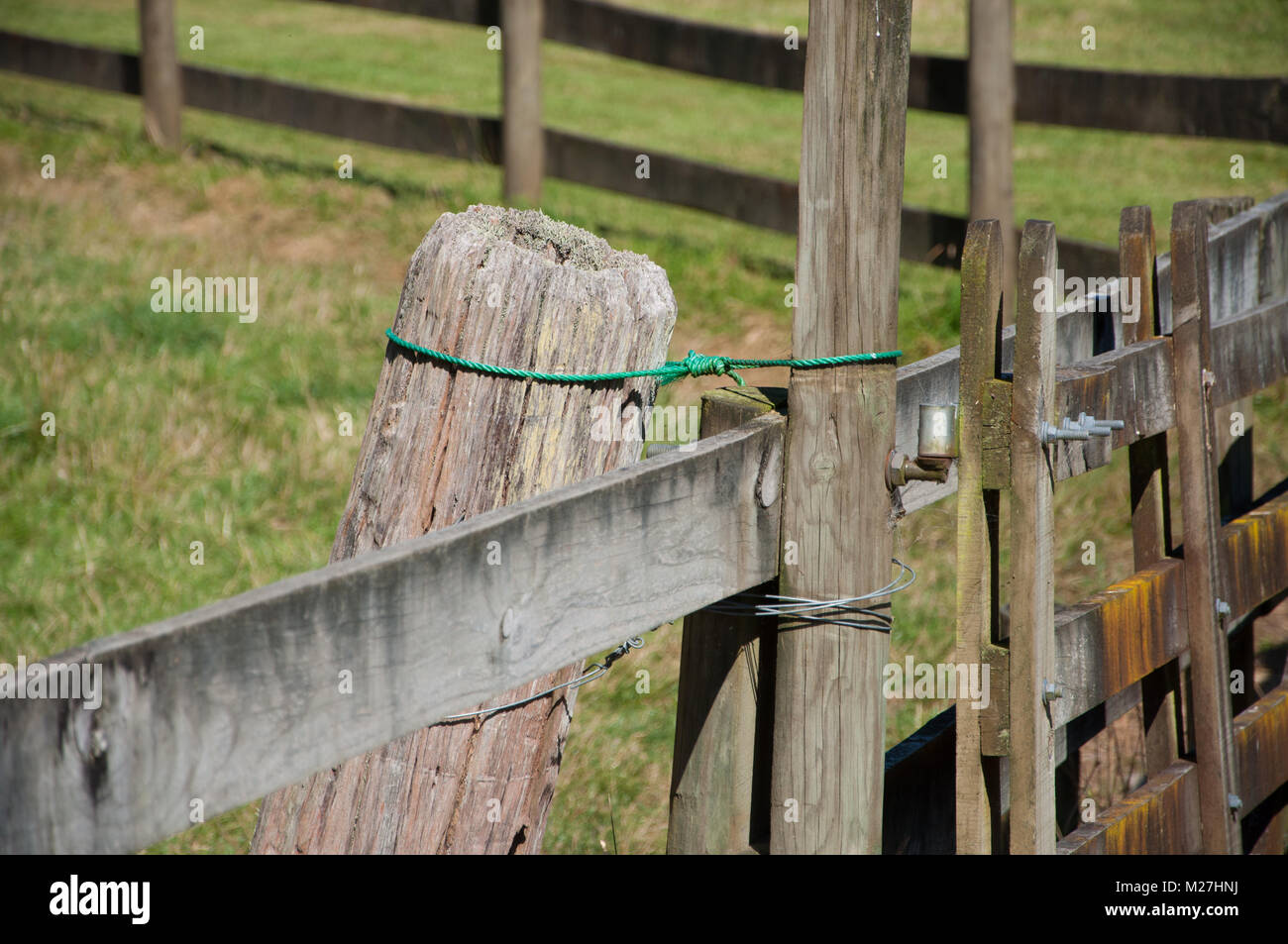 wooden farm fence. Wooden Farm Fence And Gate