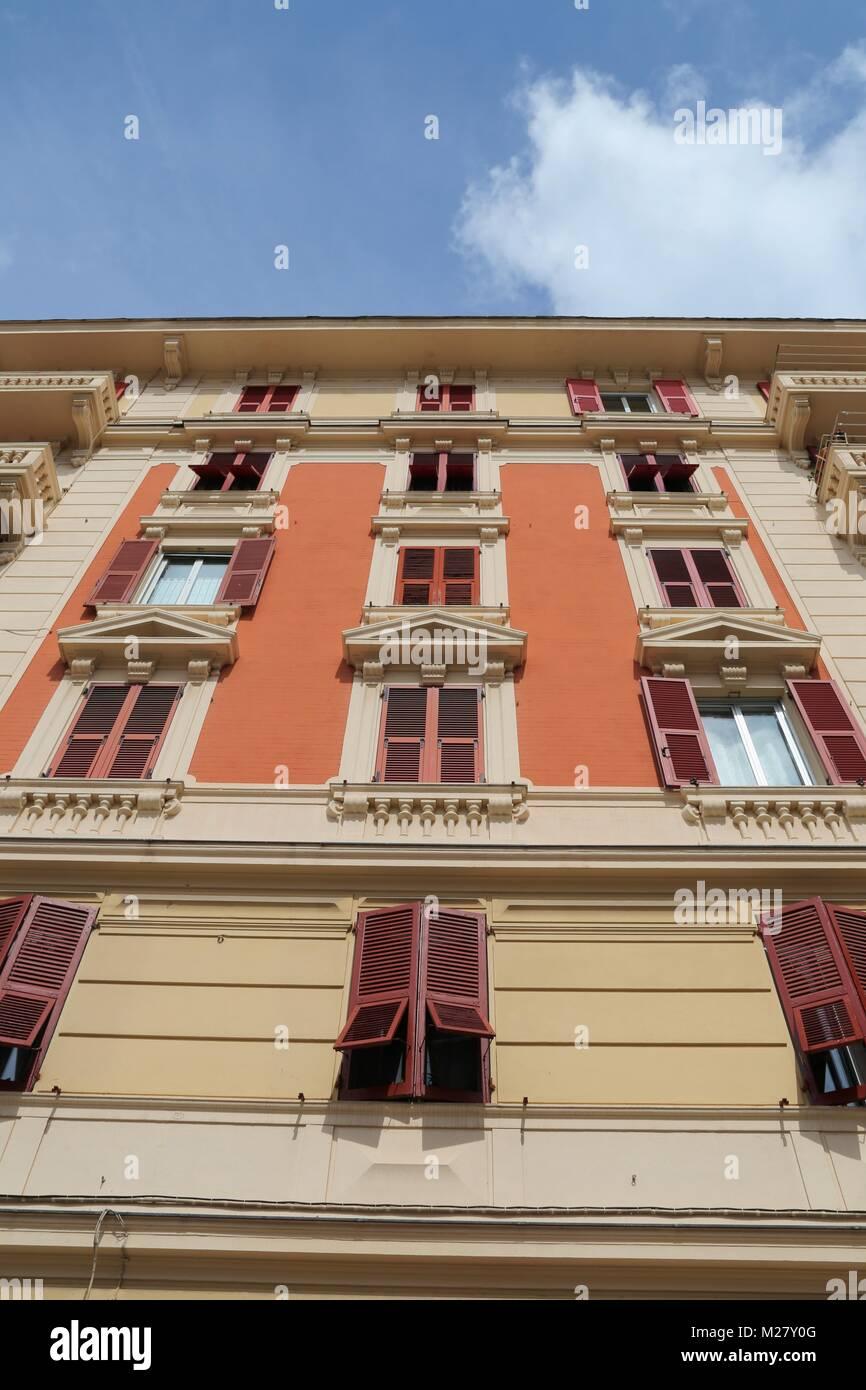Buildings in Genova, Italy Stock Photo