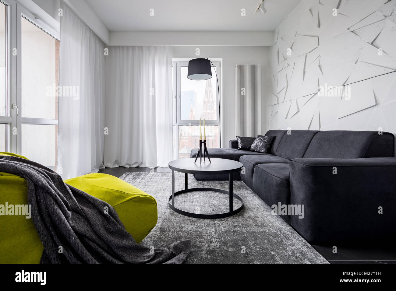 Swell Green Sack Chair Black Sofa And Decorative 3D Wall In Beatyapartments Chair Design Images Beatyapartmentscom