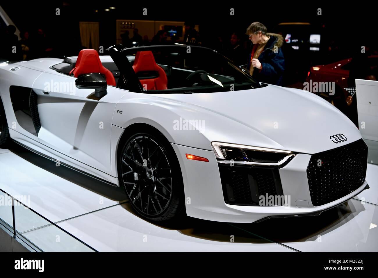 2018 Audi R8 Spyder at the 2018 Washington Auto Show, Washington DC