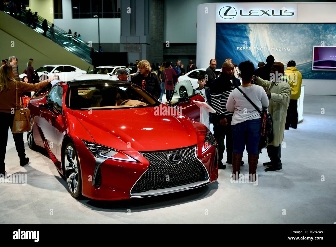 Lexus car at the 2018 Washington Auto Show, Washington DC, USA Stock