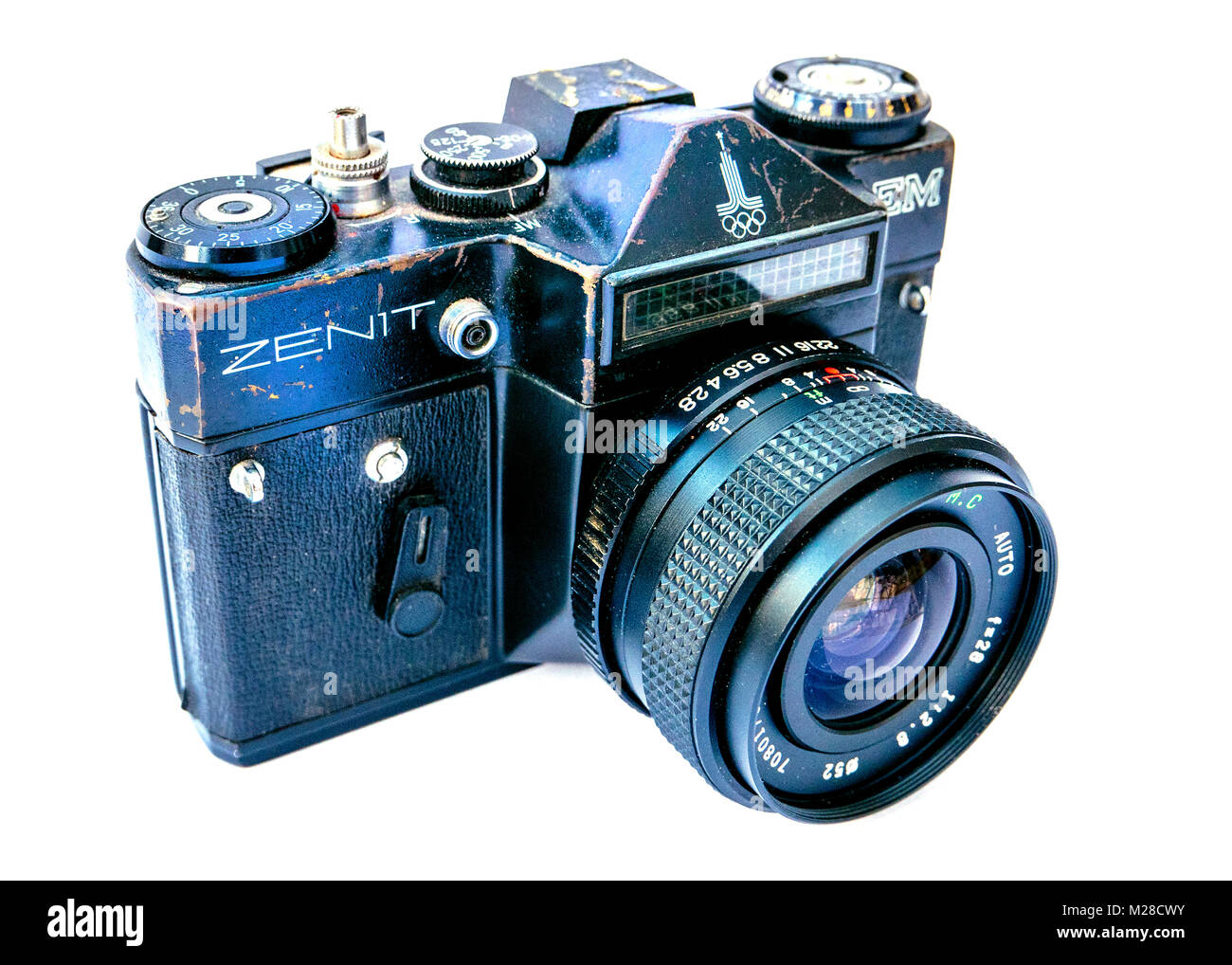 A battered and well used Russian Zenith EM Camera - Stock Image