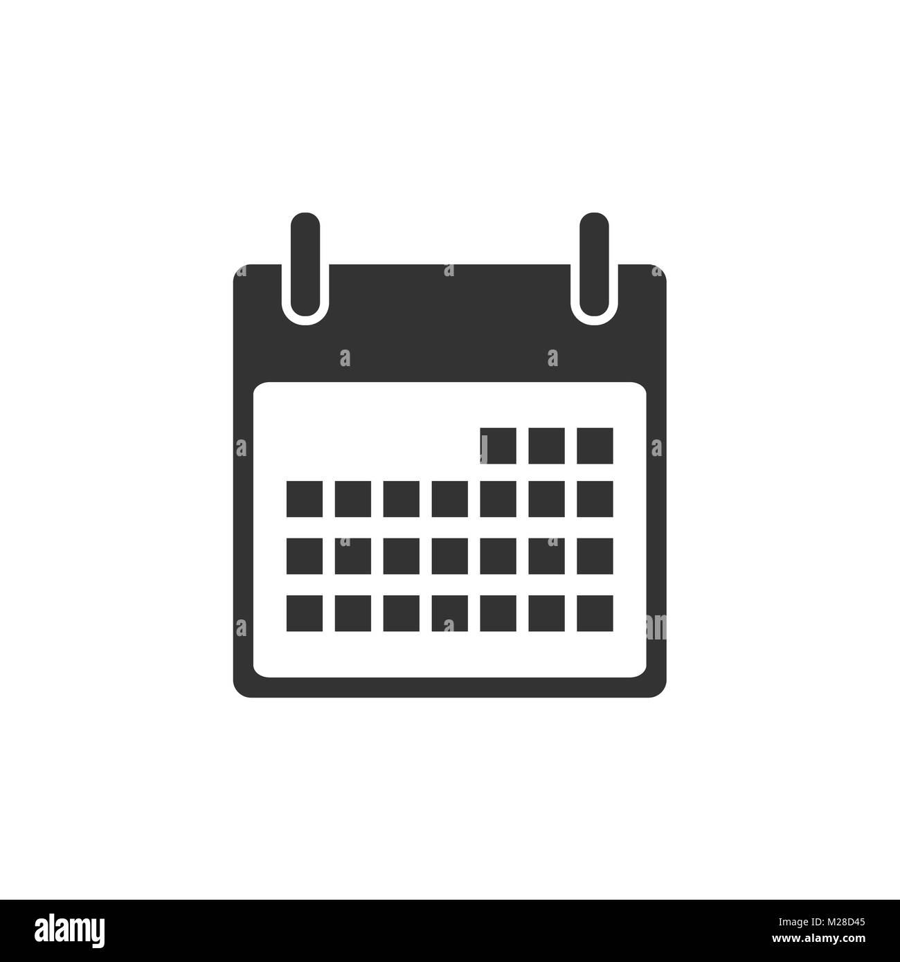 Calendario Vector Blanco.Calender Icon On White Background Vector Stock Photo