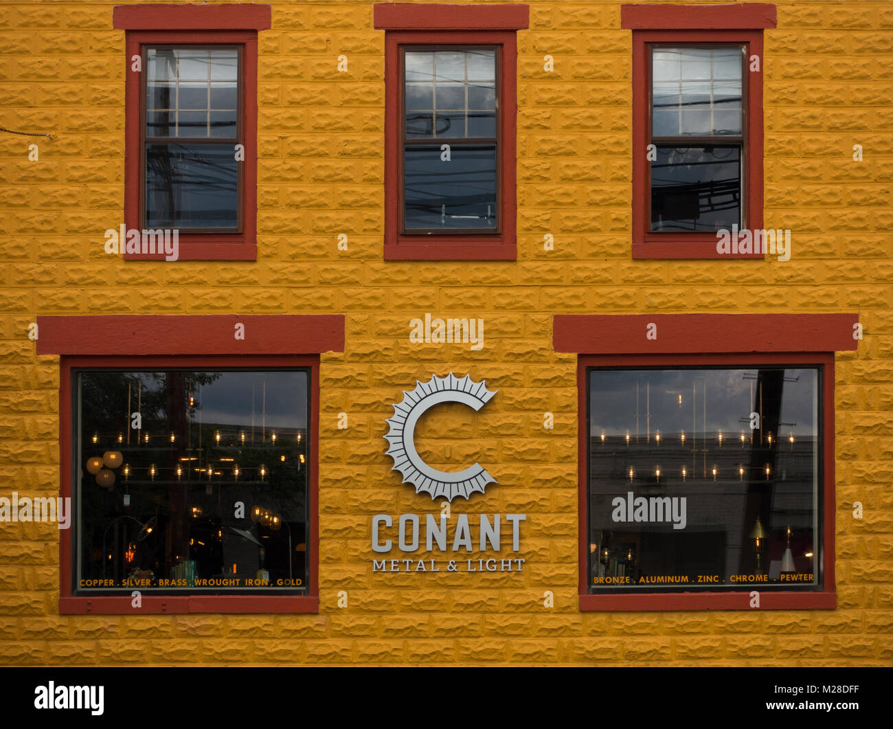 Conant metal and light Burlington VT & Conant metal and light Burlington VT Stock Photo: 173519235 - Alamy