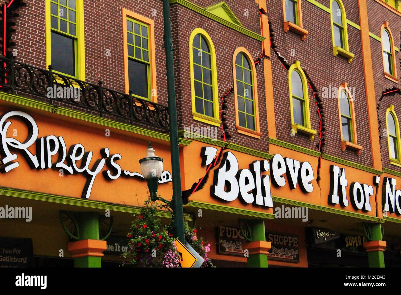 Gatlinburg Tennessee, United States- September 12, 2017- Ripley's Believe It or Not building logo. - Stock Image