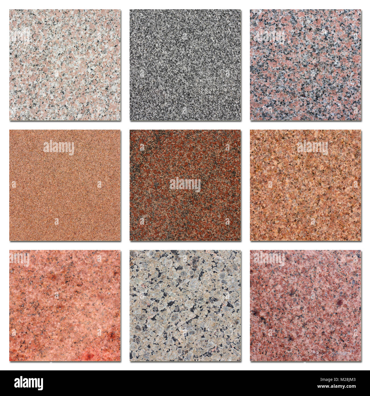 The Samples Of Egyptian Granite