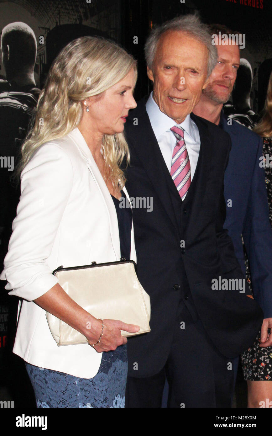 """Burbank, California, USA. 5th February, 2018. Christina Sandera, Clint Eastwood  02/05/2018 The World Premiere of """"The 15:17 to Paris"""" held at The SJR Theater at Warner Bros. Studios in Burbank, CA Photo by Izumi Hasegawa / HollywoodNewsWire.co Credit: Hollywood News Wire Inc./Alamy Live News Stock Photo"""